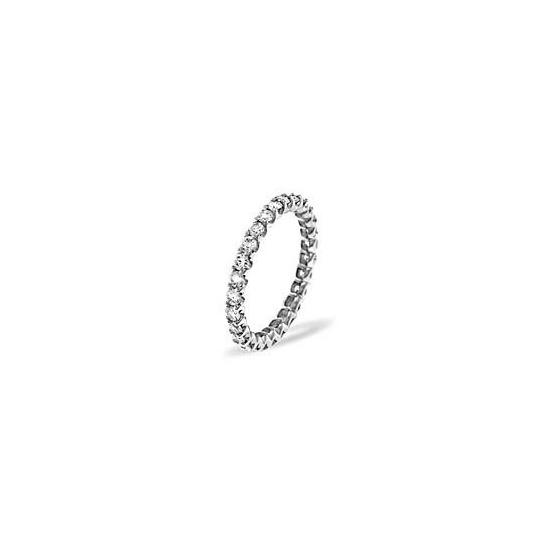 CHLOE PLATINUM DIAMOND FULL ETERNITY RING 1.00CT G/VS