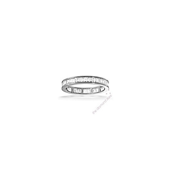 GRACE PLATINUM DIAMOND FULL ETERNITY RING 1.50CT H/SI