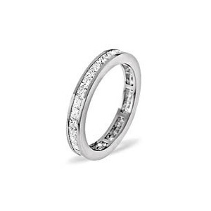 Photo of Lauren Platinum Diamond Full Eternity Ring 1.50CT g/VS Jewellery Woman