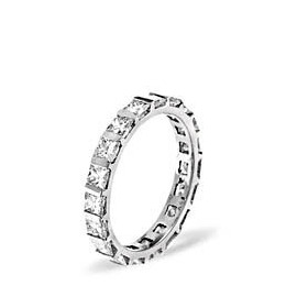 OLIVIA PLATINUM DIAMOND FULL ETERNITY RING 2.00CT G/VS Reviews