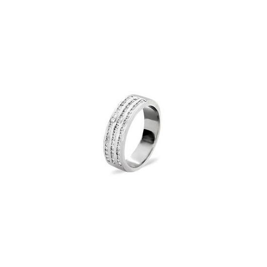 AMY 18KW DIAMOND HALF ETERNITY RING 0.50CT H/SI