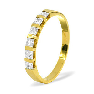 Photo of OLIVIA 18KY DIAMOND HALF ETERNITY RING 0.50CT H/SI Jewellery Woman