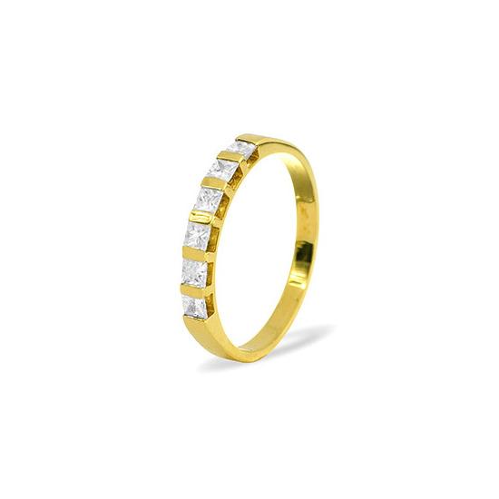 OLIVIA 18KY DIAMOND HALF ETERNITY RING 0.50CT H/SI