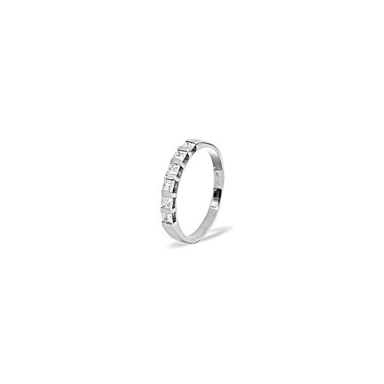 Olivia 18KW Diamond Half Eternity Ring 0.50CT H/SI