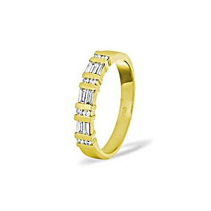 Photo of Jessica 18CRT Diamond Half Eternity Ring 0.50CT Jewellery Woman