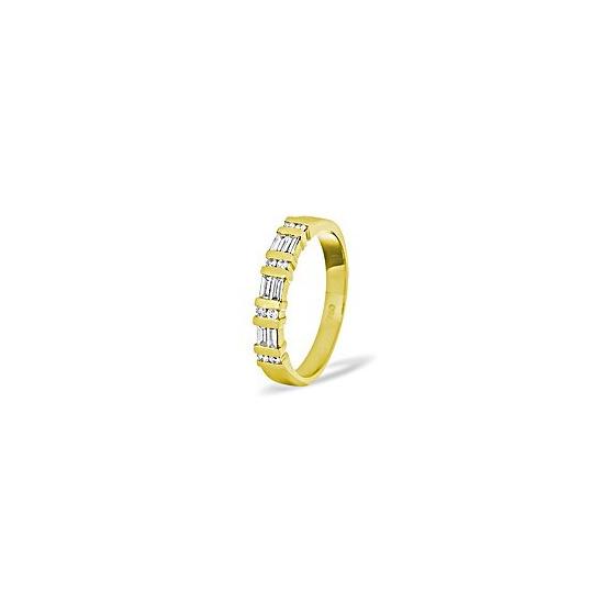 Jessica 18crt Diamond Half Eternity Ring 0.50CT