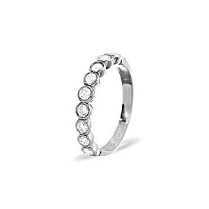 Photo of EMILY PLATINUM DIAMOND HALF ETERNITY RING 0.50CT H/SI Jewellery Woman