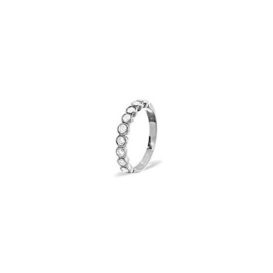 EMILY PLATINUM DIAMOND HALF ETERNITY RING 0.50CT H/SI