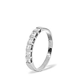 OLIVIA PLATINUM DIAMOND HALF ETERNITY RING 0.50CT G/VS Reviews