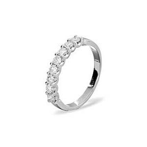 Photo of 8 Stone Chloe Platinum Diamond Half Eternity Ring 0.50CT g/VS Jewellery Woman