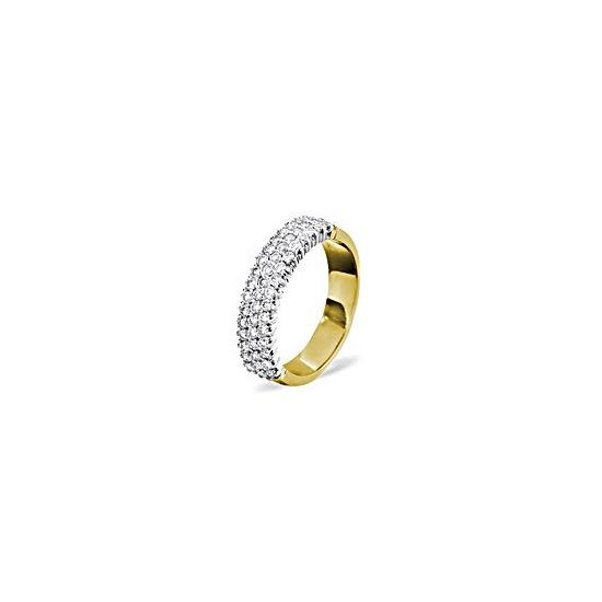 Jasmine 18KY Diamond Half Eternity Ring 1.00CT H/SI