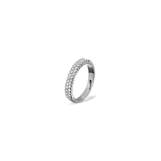 SOPHIE 18KW DIAMOND HALF ETERNITY RING 1.00CT G/VS