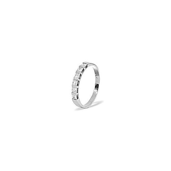 OLIVIA PLATINUM DIAMOND HALF ETERNITY RING 1.00CT H/SI