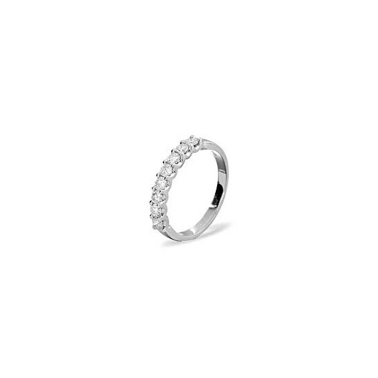 8 Stone Chloe Platinium Diamond Half Eternity Ring