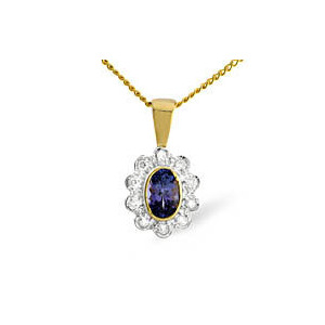 Photo of 9KY Diamond Tanzanite Pendant 0.10CT Jewellery Woman