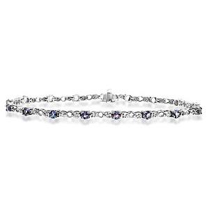 Photo of 9KW Diamond Tanzanite Bracelet 0.17CT Jewellery Woman