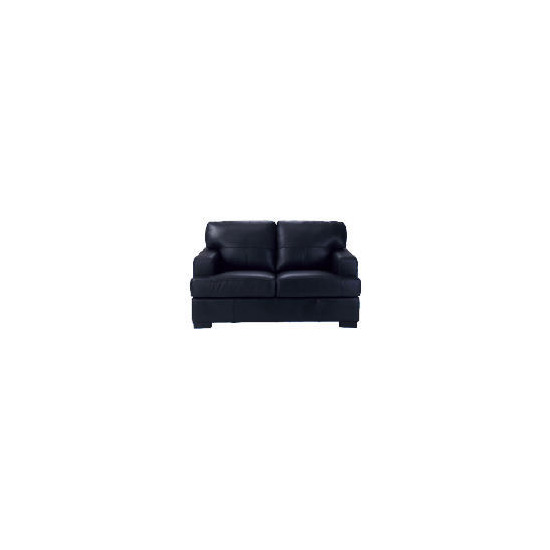 Denver Leather Sofa, Black