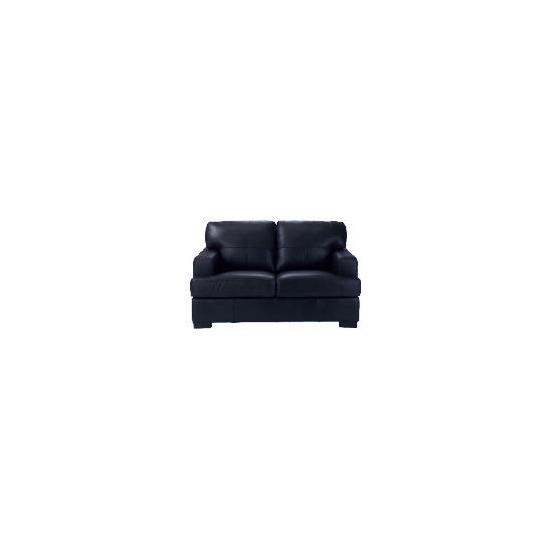 Denver Leather Sofa, Black