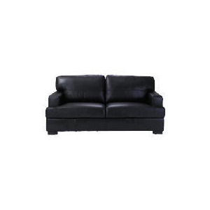 Photo of Denver Large Leather Sofa, Black Furniture