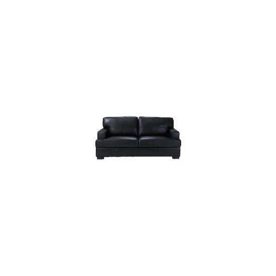 Denver Large Leather Sofa, Black