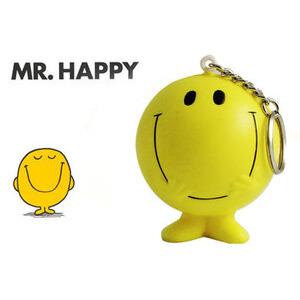 Photo of MR Men Stressball Keychain - MR Happy Gadget