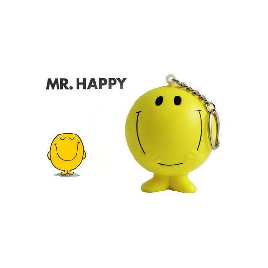 Mr Men Stressball Keychain - Mr Happy