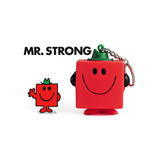 Mr Men Stressball Keychain - Mr Strong
