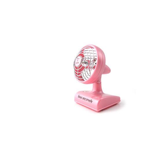 David and Goliath Pink Desk Fan