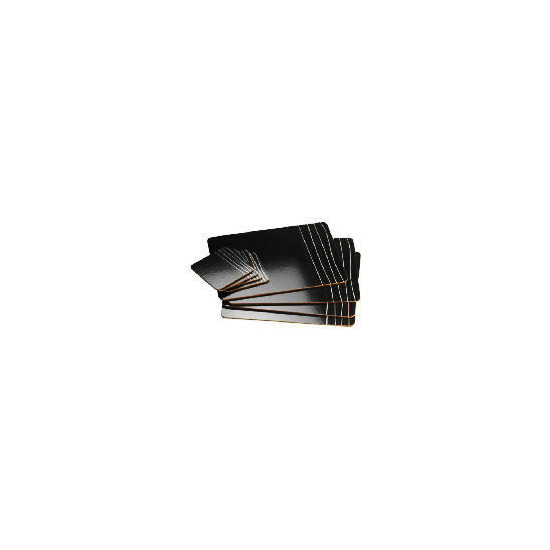 Tesco Black & White Scratched design placemats & coasters