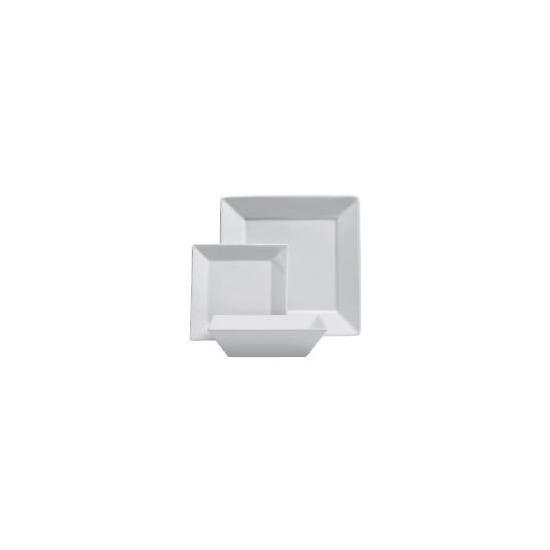 Tesco square porcelain 12 piece set