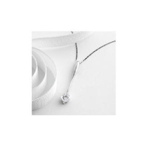 Photo of 9CT White Gold Cubic Zirconia Pendant Jewellery Woman