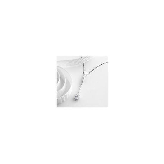 9ct White Gold Cubic Zirconia Pendant