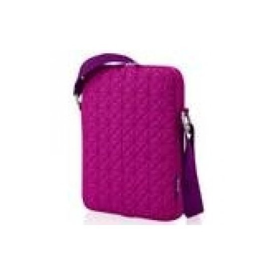 7 Mini Laptop Bag w/Travel Mouse- Red