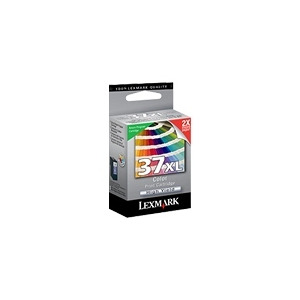 Photo of Lexmark Cartridge No. 37XL - Print Cartridge - High Yield - 1 X Colour (Cyan, Magenta, Yellow) - 500 Pages - LRP Ink Cartridge