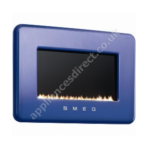 Photo of Smeg 50s Style Flueless Natural Gas Fire In Dark Blue Electric Heating