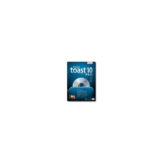 Roxio Toast Titanium Pro - ( v. 10 ) - complete package - 1 user - DVD - Mac - Multilingual