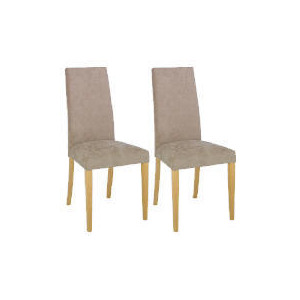 Photo of Pair Of Roma Dining Chairs, Brown With Oak Legs Furniture
