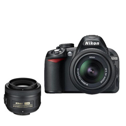 Nikon D3100 with 18-55mm Lens with AF-S DX NIKKOR 35mm f/1.8G Lens