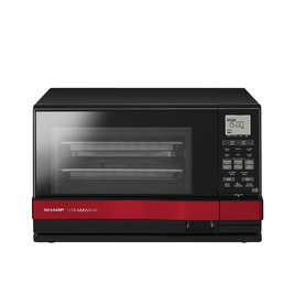 Sharp Steamwave AX1100RM Steam oven with Grill - Black with Red stripe