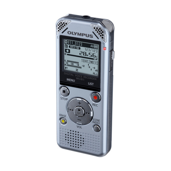 Olympus WS-811 Digital Voice Recorder - Silver