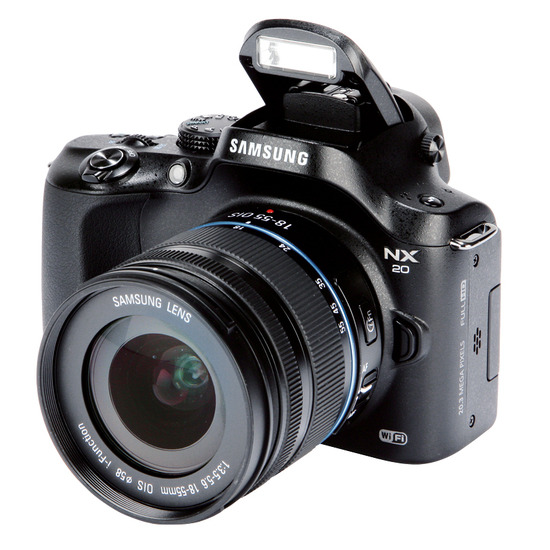 Samsung NX20 with 18-55mm lens