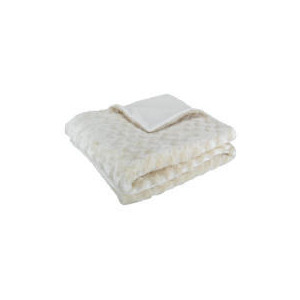 Photo of Tesco Wave Faux Fur Throw Ivory Cushions and Throw