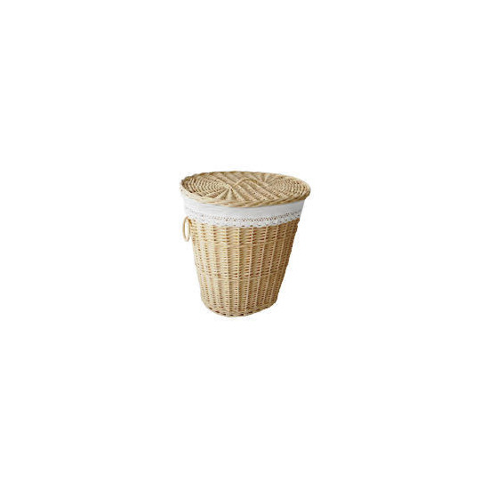 Cream Willow Laundry Hamper - Oval