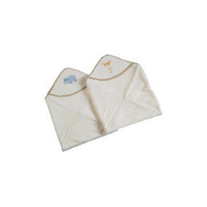 Photo of TESCO MY BABY'S 2 PK Emb Cuddle Robes Natural Baby Product