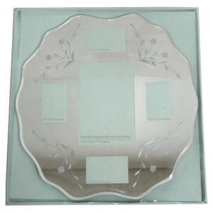Photo of Tesco Multi Aperture Mirrored Floral Frame Photo Frame