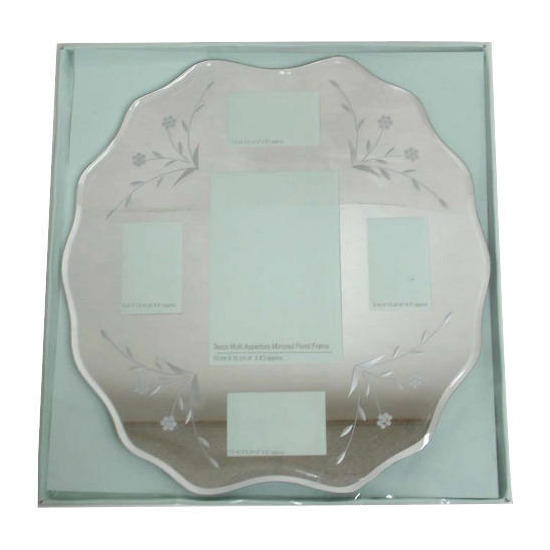 Tesco Multi Aperture Mirrored Floral Frame