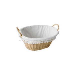 Photo of Cream Willow Laundry Basket Home Miscellaneou