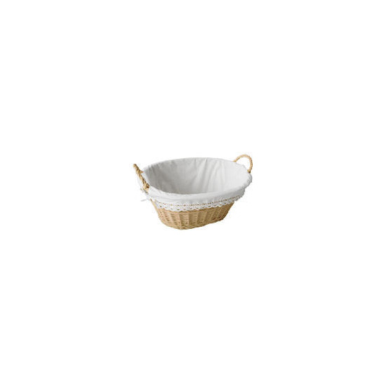 Cream Willow Laundry Basket