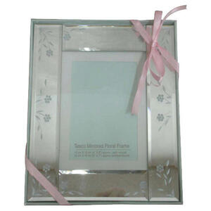 Photo of Tesco Mirrored Floral Frame 13X18CM Photo Frame