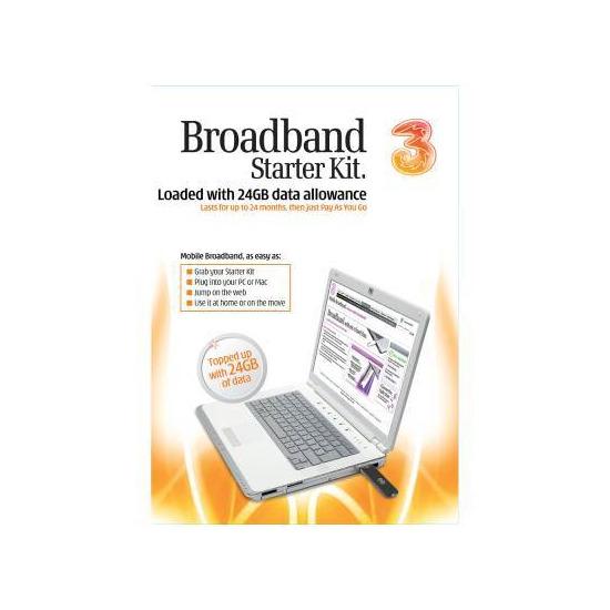 3 Mobile broadband - 24GB Starter